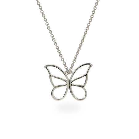 3059bbdff Tiffany Inspired Sterling Silver Butterfly Pendant
